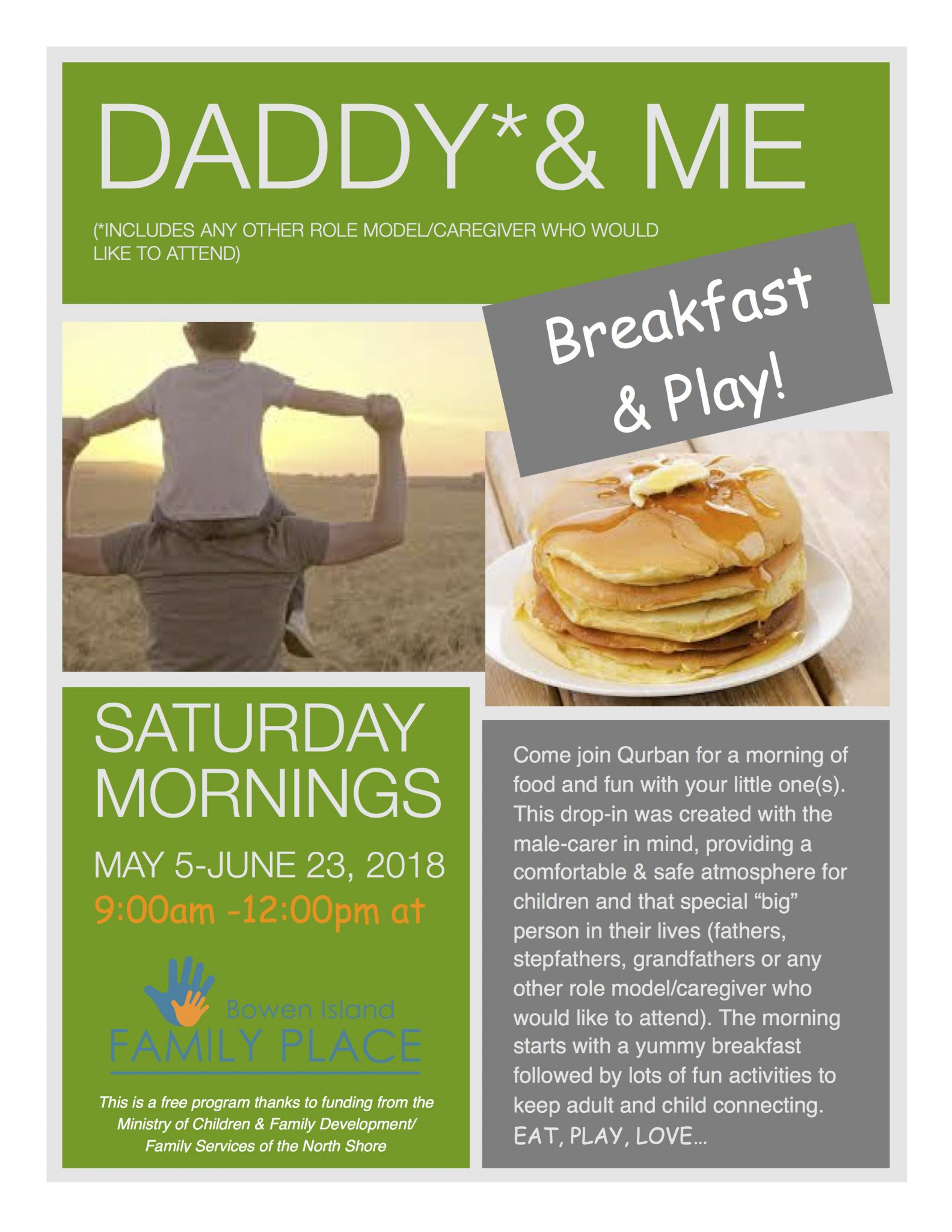 New Program Starting at Family Place on Saturdays