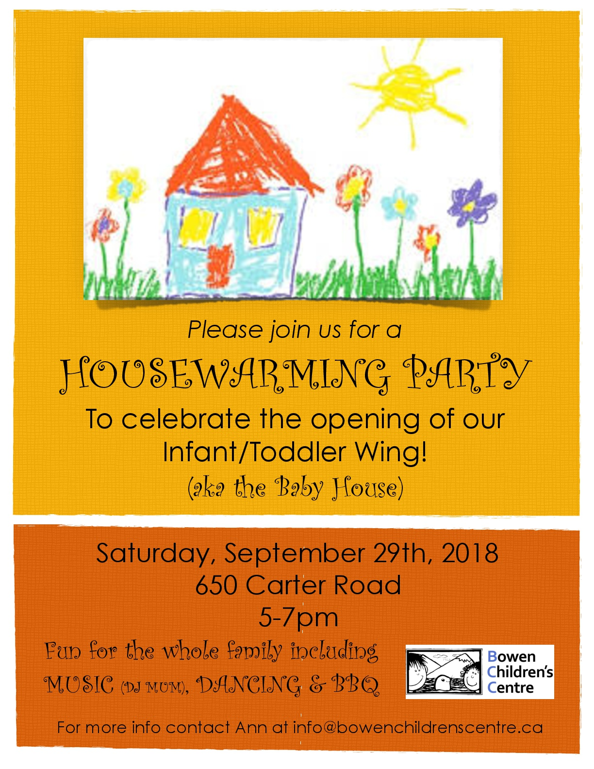 Housewarming Party on Sept 29