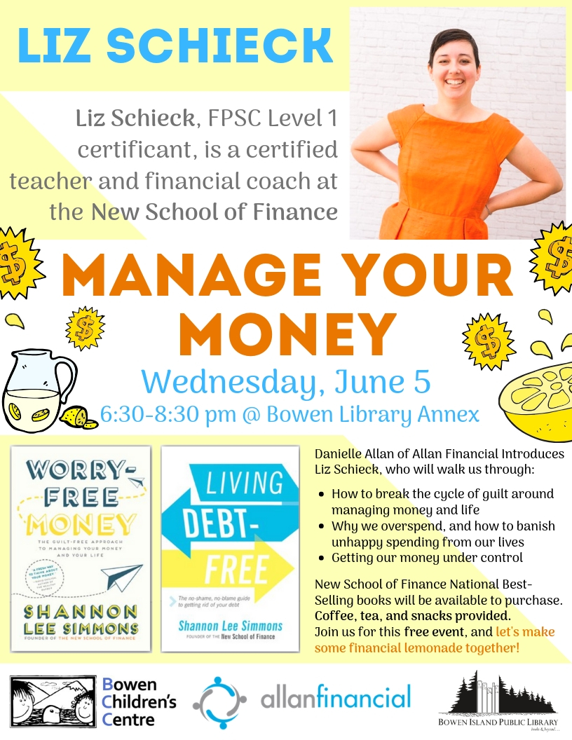 Need some free help managing your money? Join us the evening of June 5th!