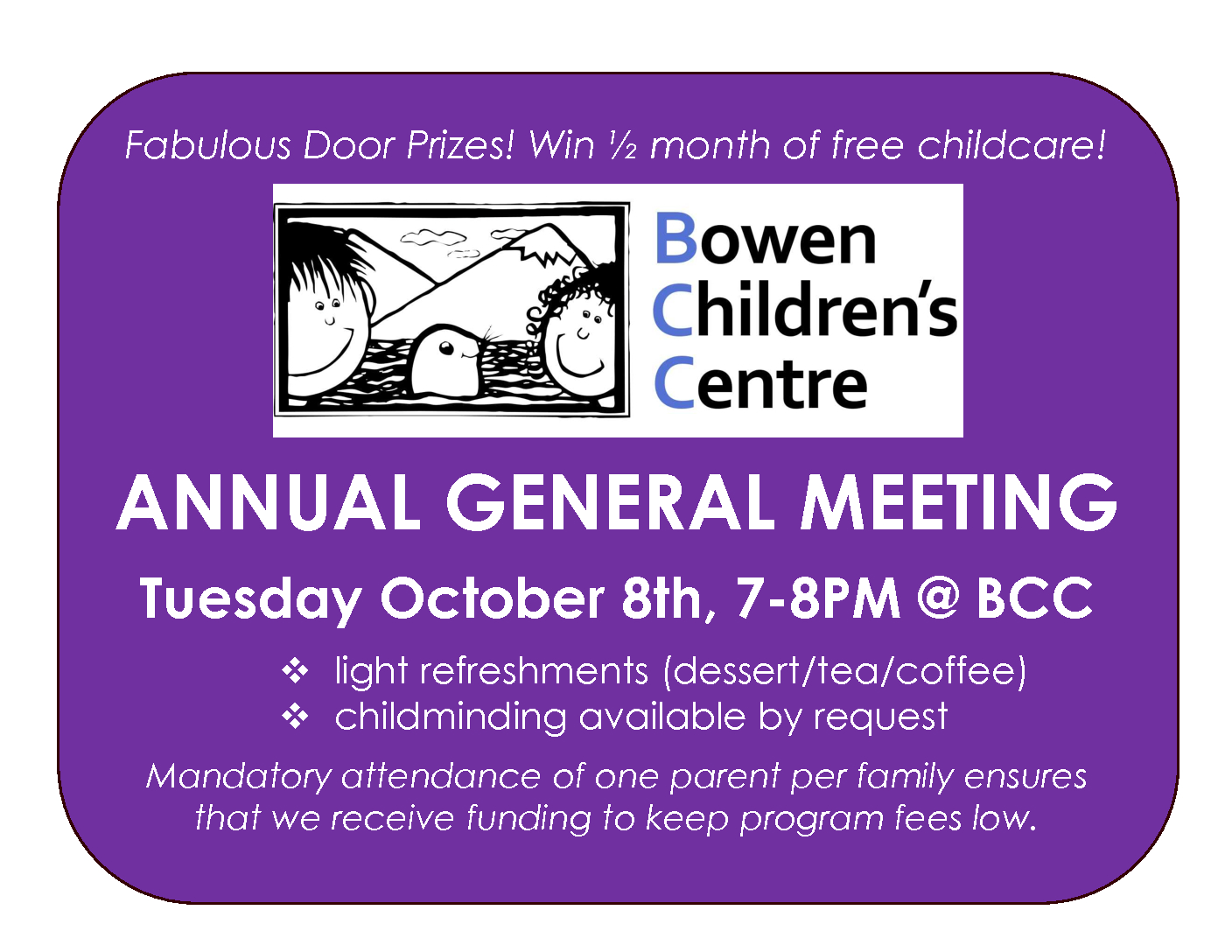 BCC's AGM is just around the corner!