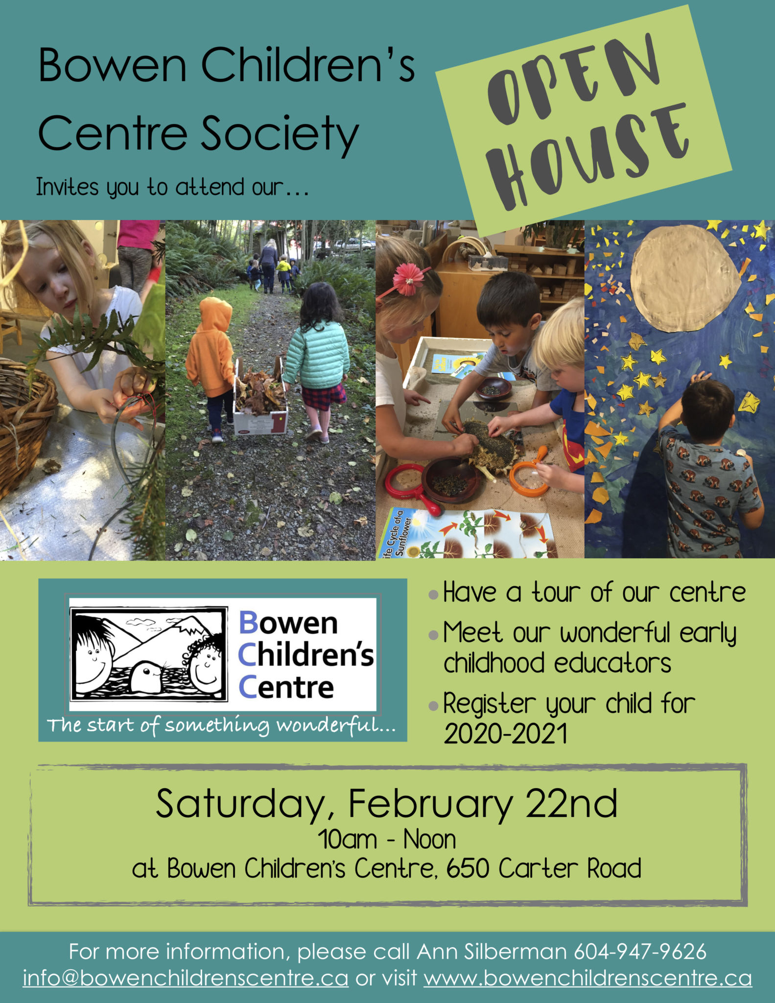 Join our Open house on Saturday February 22nd!